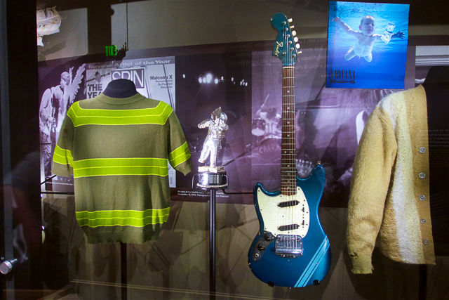 Nirvana memorabilia from Smells Like Teen Spirit at the EMP Museum in Seattle, WA