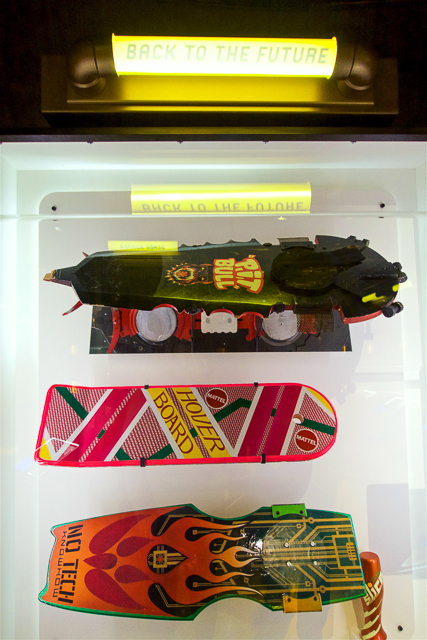 Back to the Future 2 Hover Boards at the EMP Museum in Seattle, WA