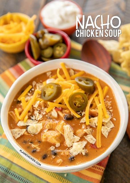 nacho chicken soup
