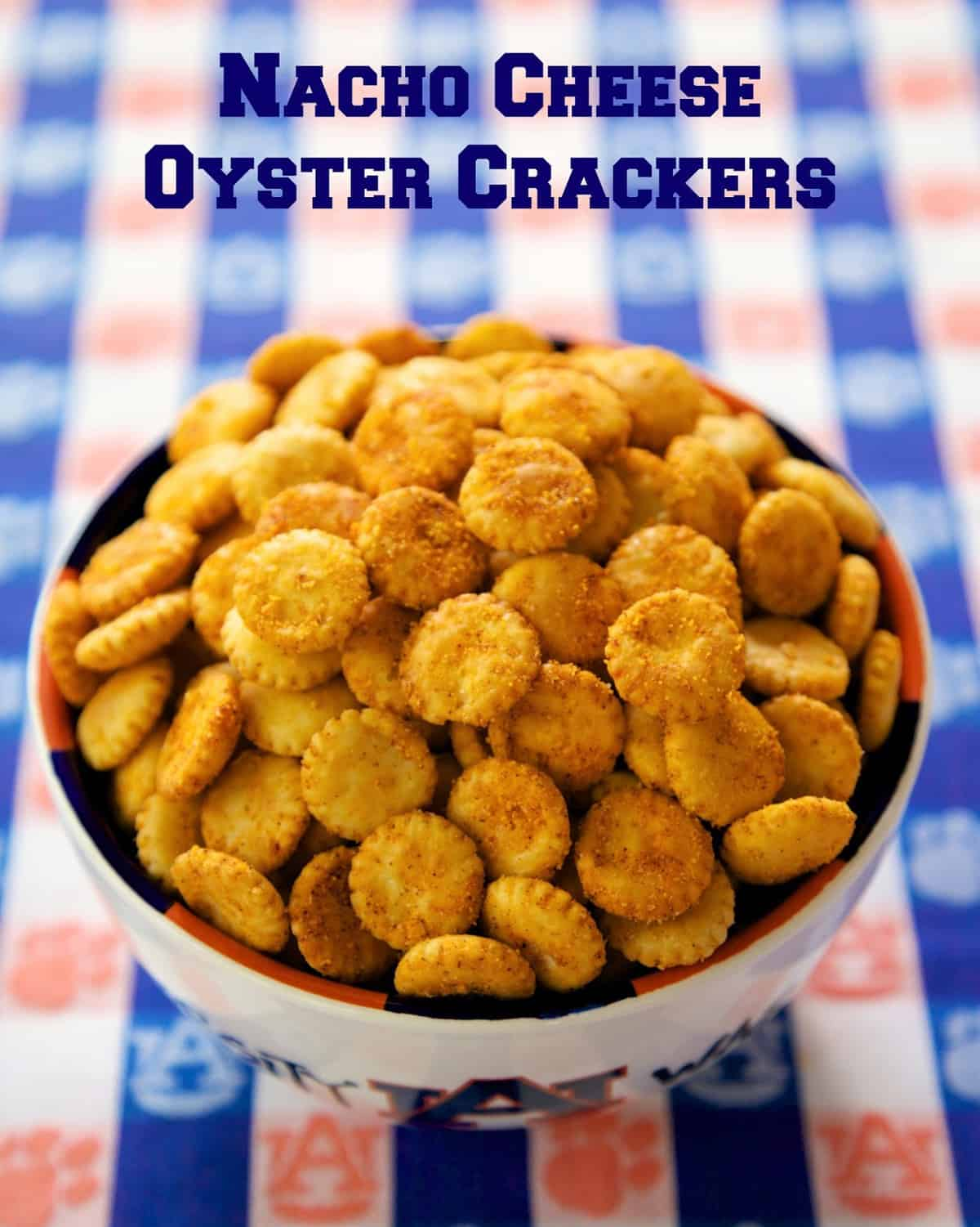 Nacho Cheese Oyster Crackers - Doritos Cracker Bites - great for snacking or in soups and chili! Oyster crackers coated in taco seasoning and cheese. Seriously addictive! Ready to eat in 15 minutes! Everyone loves this easy snack recipe!
