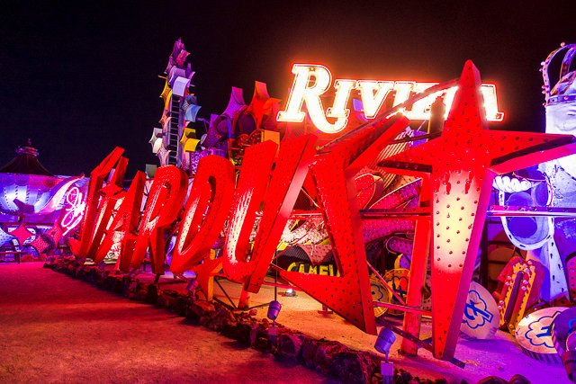 The Neon Museum Boneyard - Las Vegas, NV - a must see on your next Vegas trip. Located at the North end of Las Vegas Boulevard. The night tour is fantastic!! Book early! The tours sell out quickly!