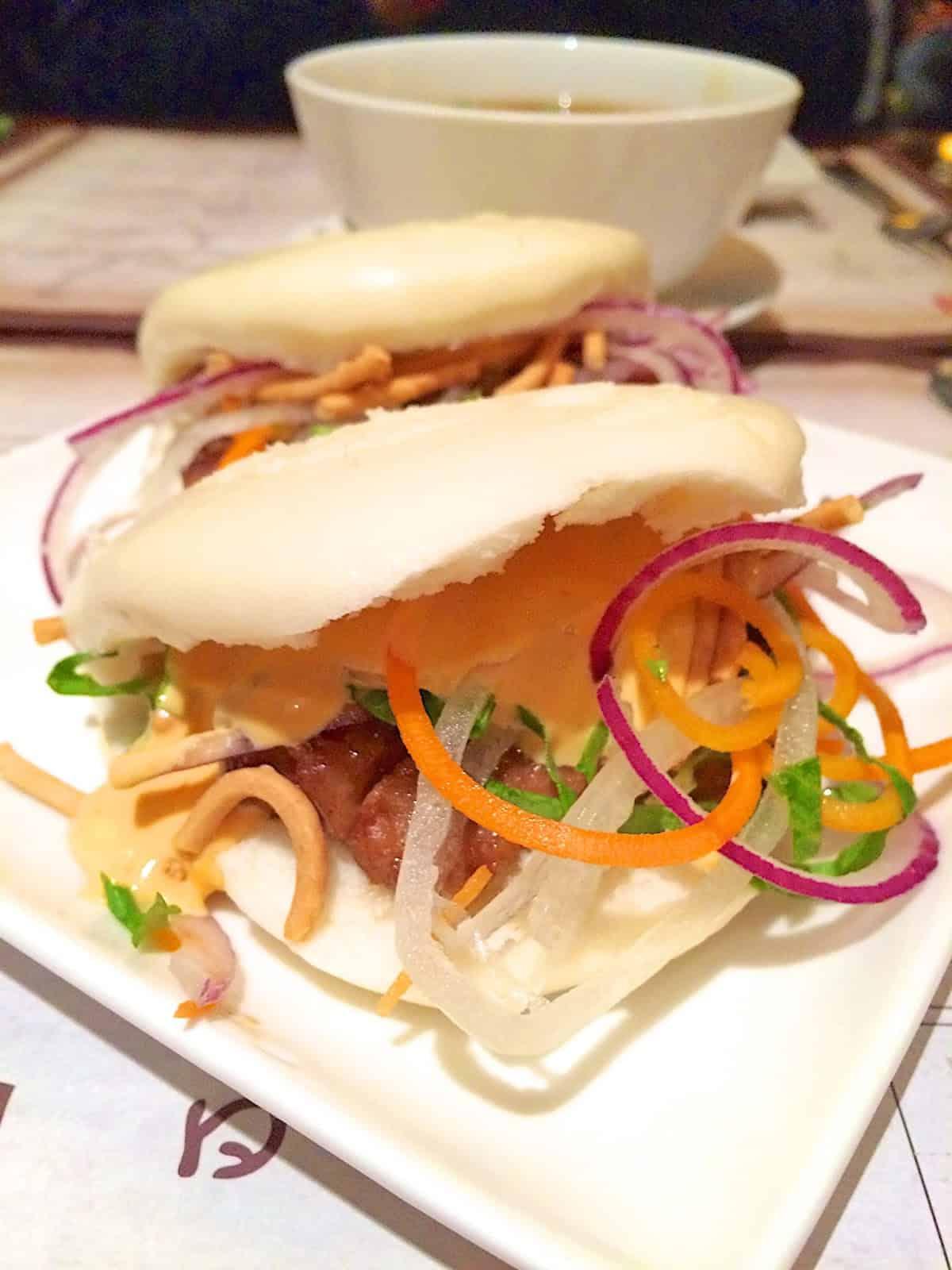Pork Belly Steam Buns - Nine Dragons Restaurant - Epcot {Disney World}