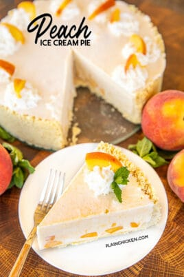 peach ice cream pie