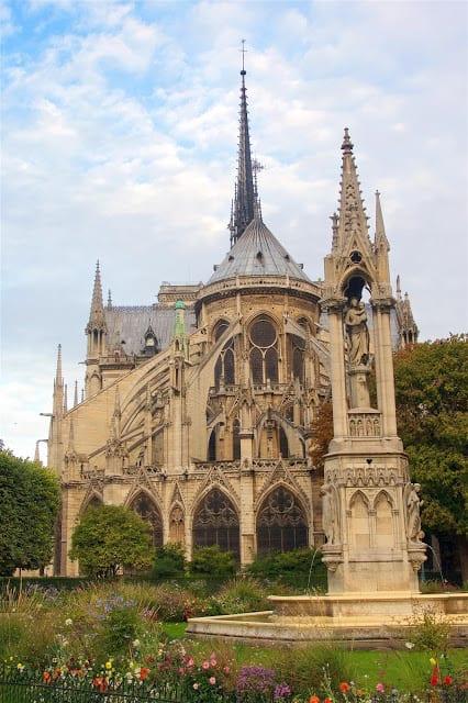 Don't miss the back of Notre Dame - Paris, France