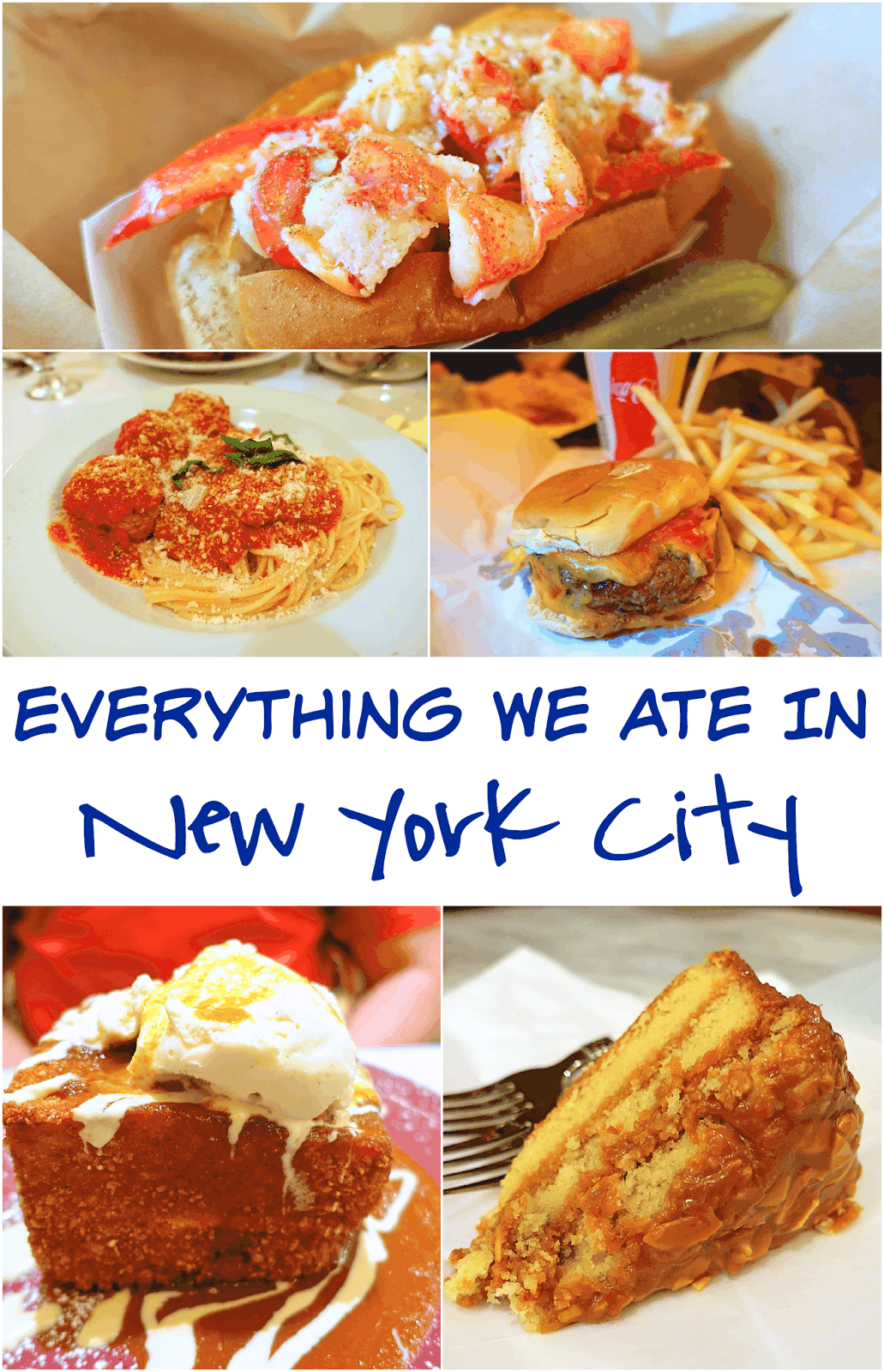 Everything We Ate in New York City - Patsy's Italian Restaurant, Bull & Bear, Plaza Food Hall, Secret Burger Joint, Magnolia Bakery, Norma's, Milk Bar, Uncle Jack's Steakhouse - must try places for your next trip to NYC.