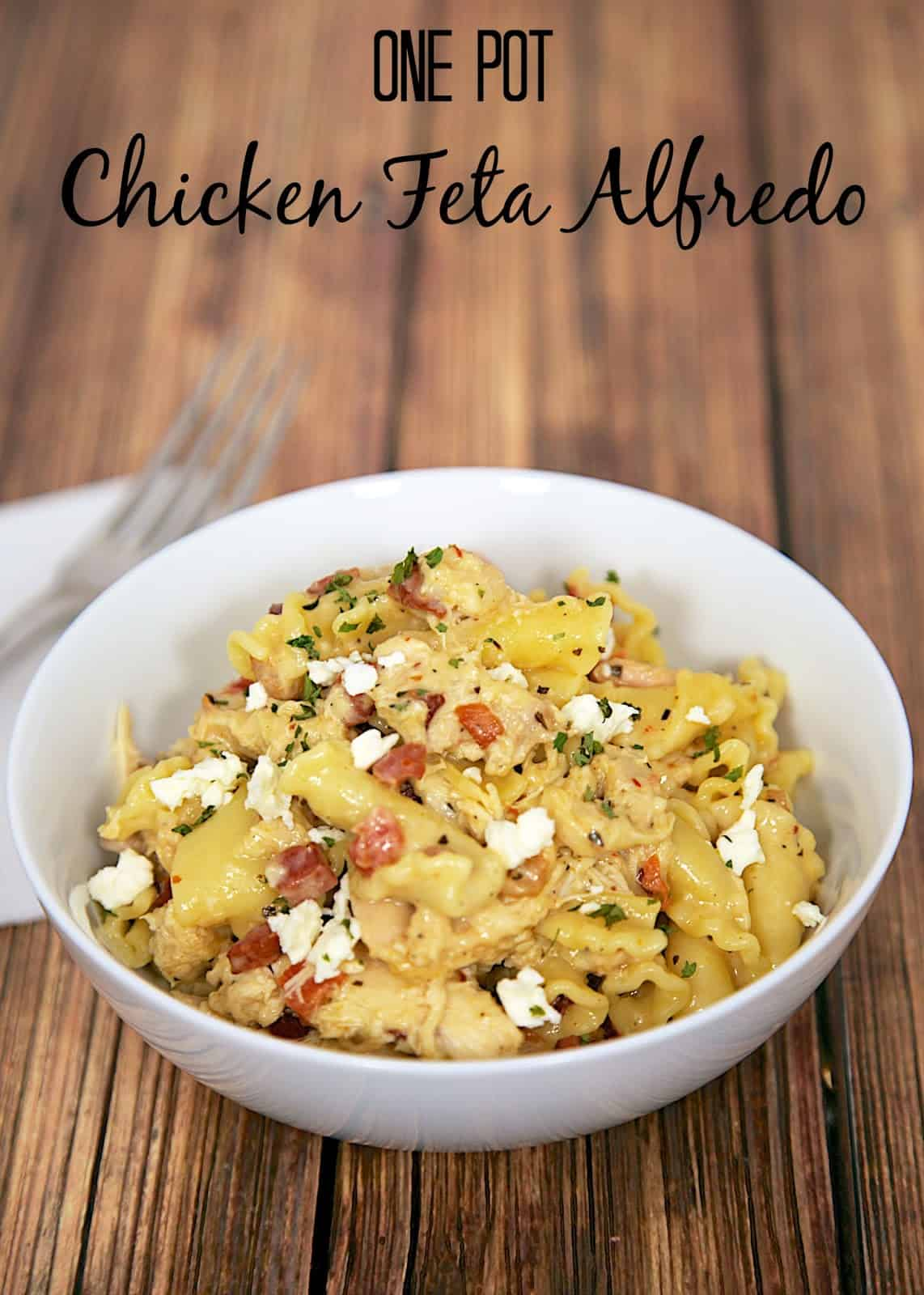 One Pot Chicken Feta Alfredo