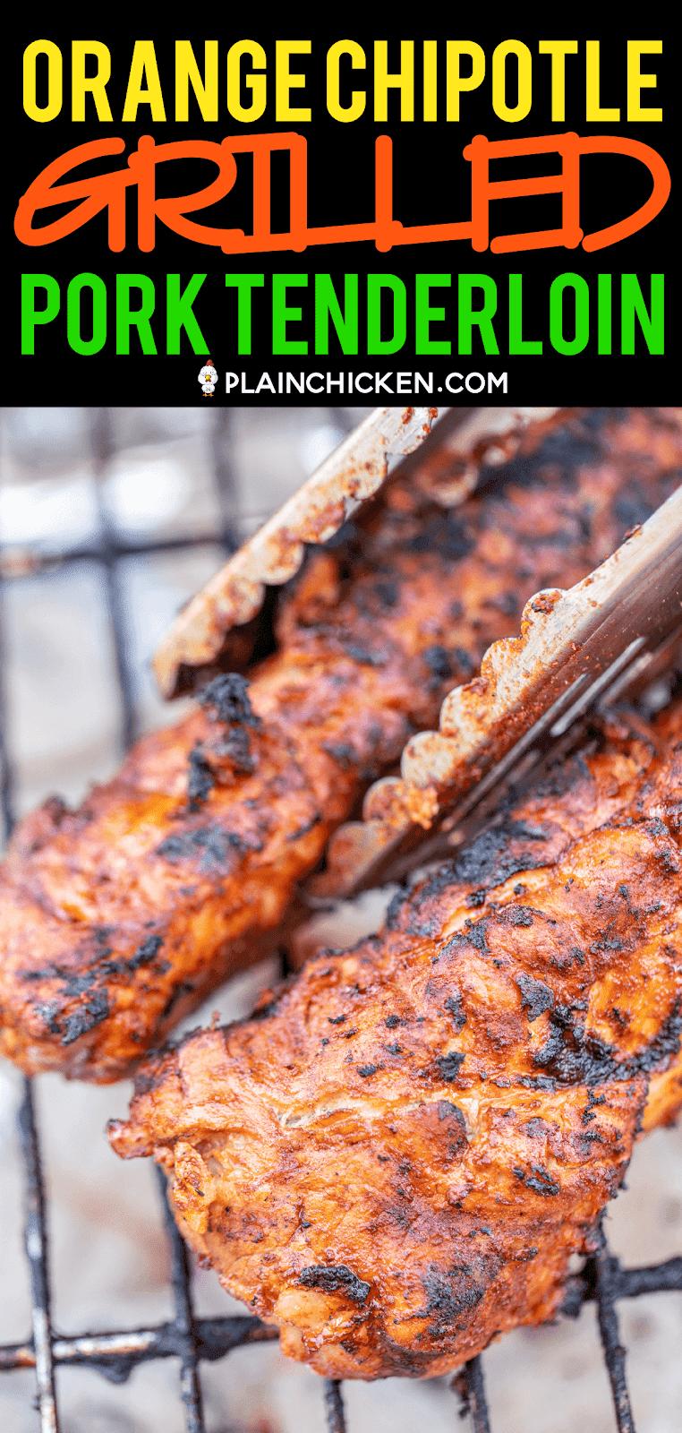 pork tenderloin cooking on the grill