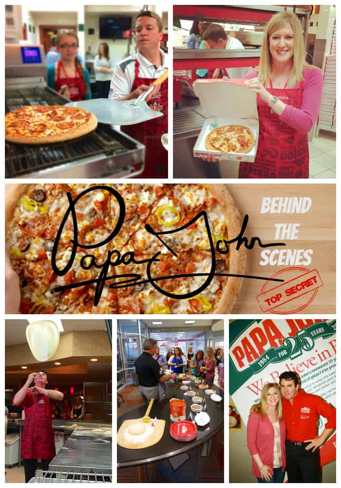 Behind the scenes at Papa John's Pizza headquarters in Louisville, KY. I learned all about their ingredients and how to make a pizza from Papa John himself. Papa John's has no trans-fats, no MSG, no fillers in its meat toppings, no BHA, no BHT and no partially hydrogenated oils.  They use fresh, never frozen original dough and cheese made from high-quality, 100-percent mozzarella and skim milk.