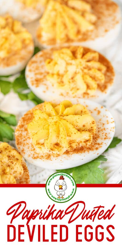 paprika dusted deviled eggs