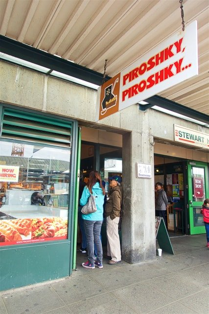 Piroshky, Piroshky in Pike Place Market, Seattle, WA - home of world famous Russian Pastries