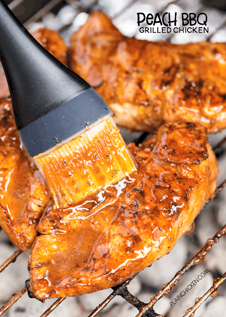 Peach BBQ Grilled Chicken - Plain Chicken