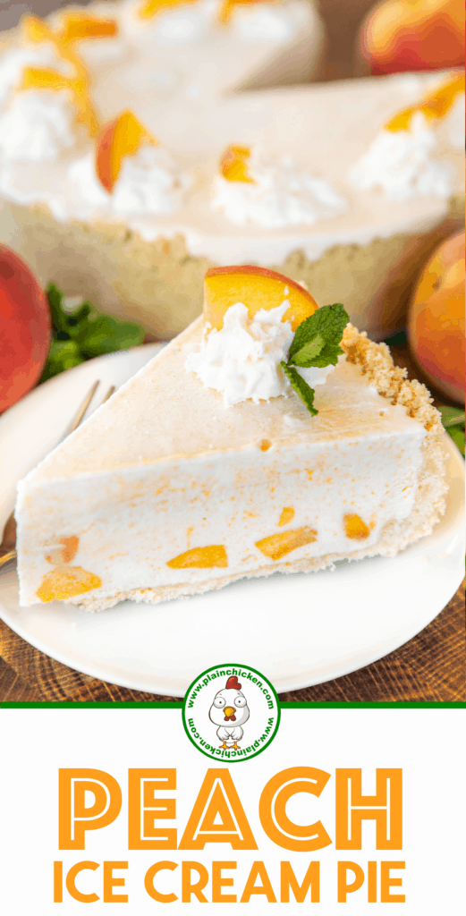 peach ice cream pie