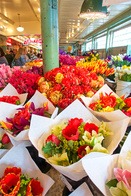 Beautiful flowers at Pike Place Market - Seattle, WA - if I lived here I would buy a bouquet every day!