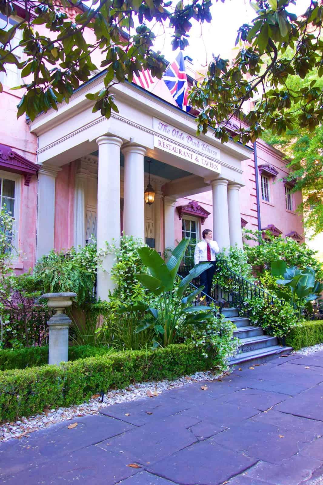 The Olde Pink House in Savannah, GA