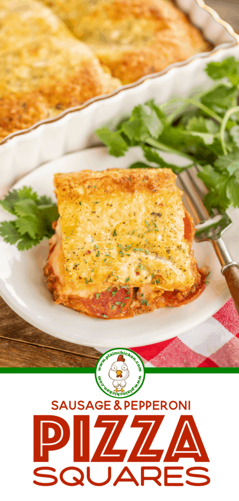 stuffed pizza casserole on a plate