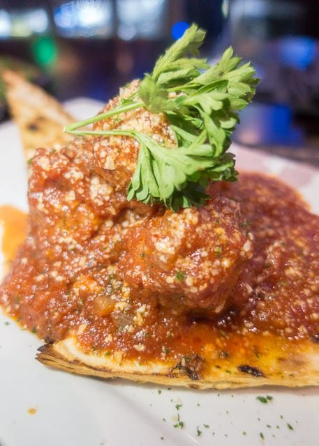Meatball appetizer at Nona Blue - Ponte Vedra, FL