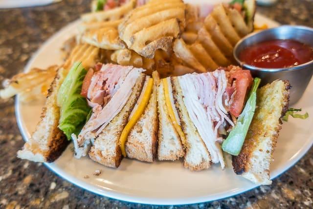 Club Sandwich at Mulligan's Pub in Ponte Vedra, FL