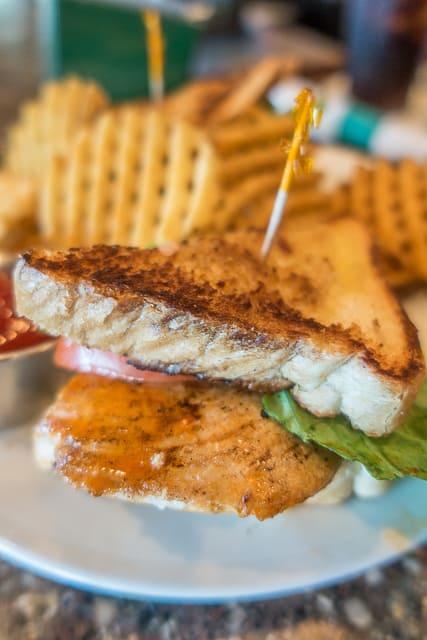Grilled Buffalo Chicken Sandwich at Mulligan's Pub in Ponte Vedra, FL