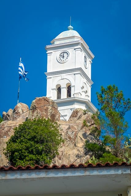 Clock Tower Poros Greece