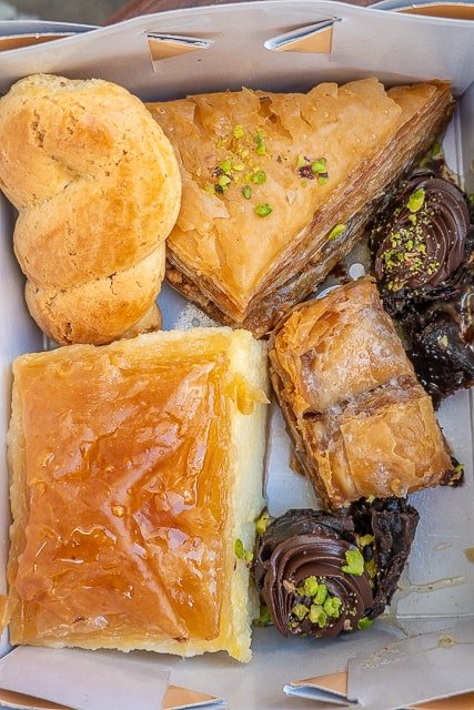 Pastries from Patisserie Glykisma in Poros Greece