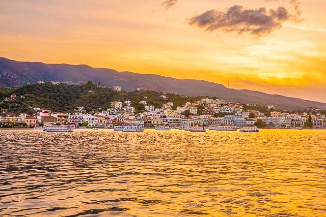 View from Hellenic Seaways in Poros Greece