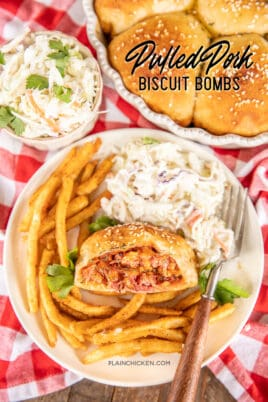 pulled pork biscuit bombs