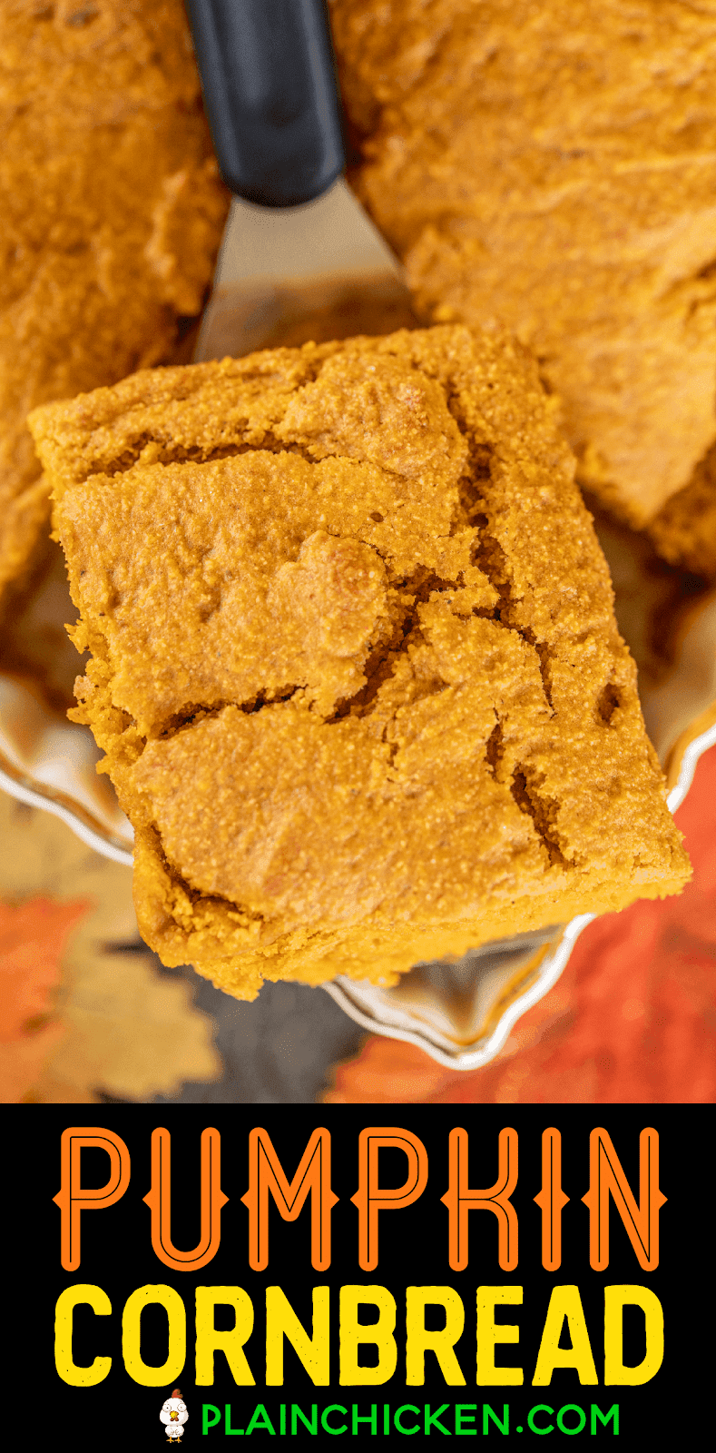slice of pumpkin cornbread