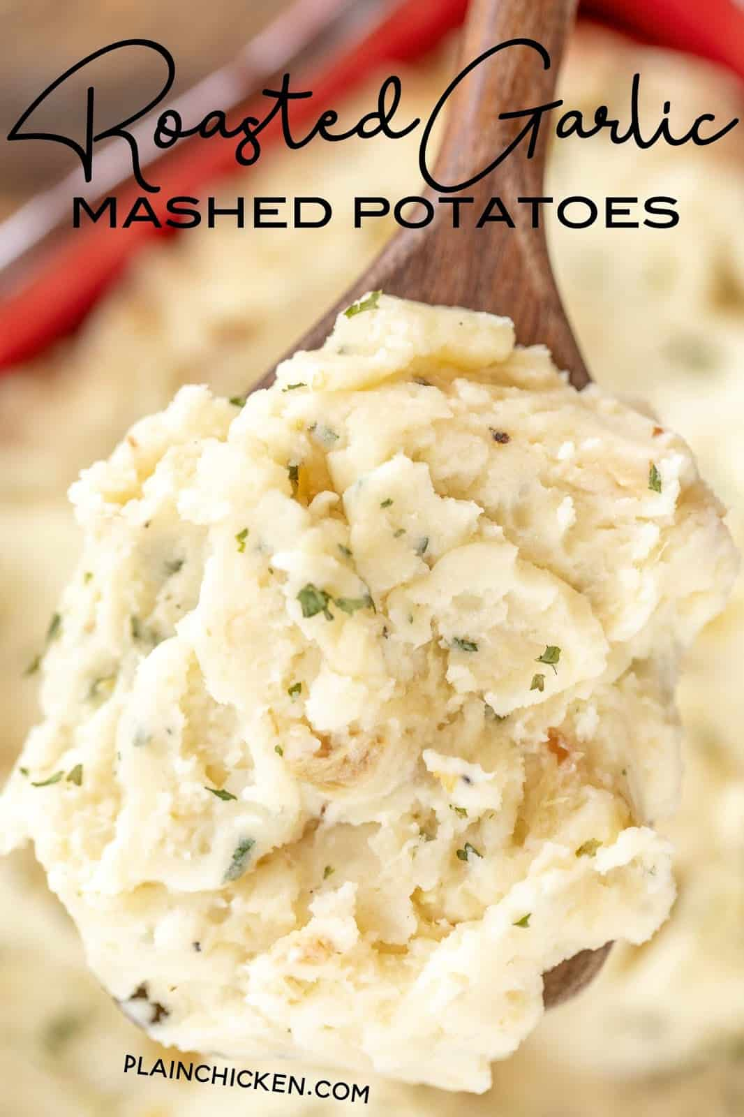 mashed potatoes on a spoon