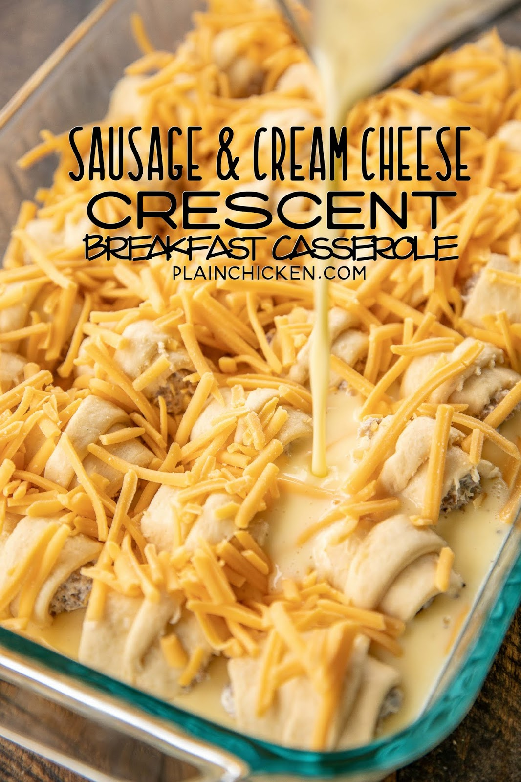 Sausage & Cream Cheese Crescent Breakfast Casserole