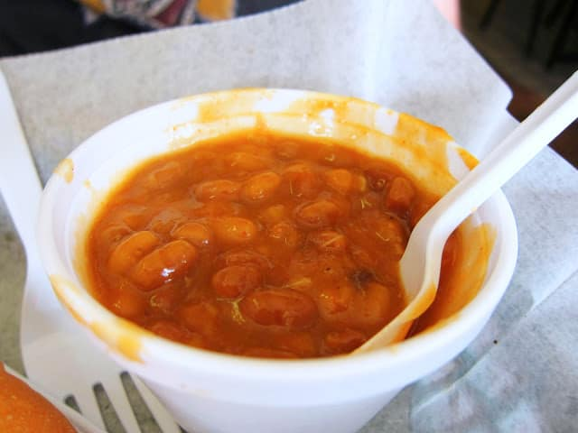 Baked Beans at Saw's BBQ in Homewood, Alabama