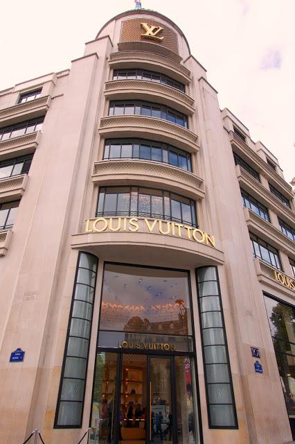 Flagship Louis Vuitton store on the Champs-Élysées in Paris, France