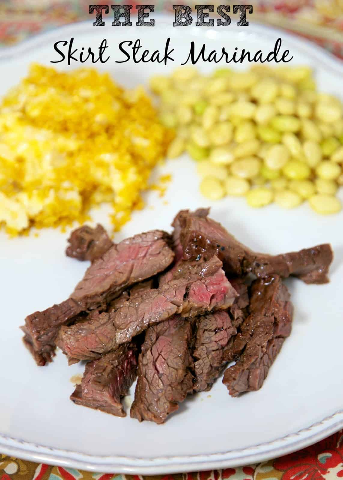 The BEST Skirt Steak Marinade - if you've never made skirt steak you are missing out! Inexpensive and so flavorful! Soy sauce, dijon mustard, red wine vinegar, Worcestershire sauce, olive oil, molasses, garlic and onion powder. Let steak marinate overnight for maximum flavor. Our favorite steak recipe!! #grilling #steak #marinade