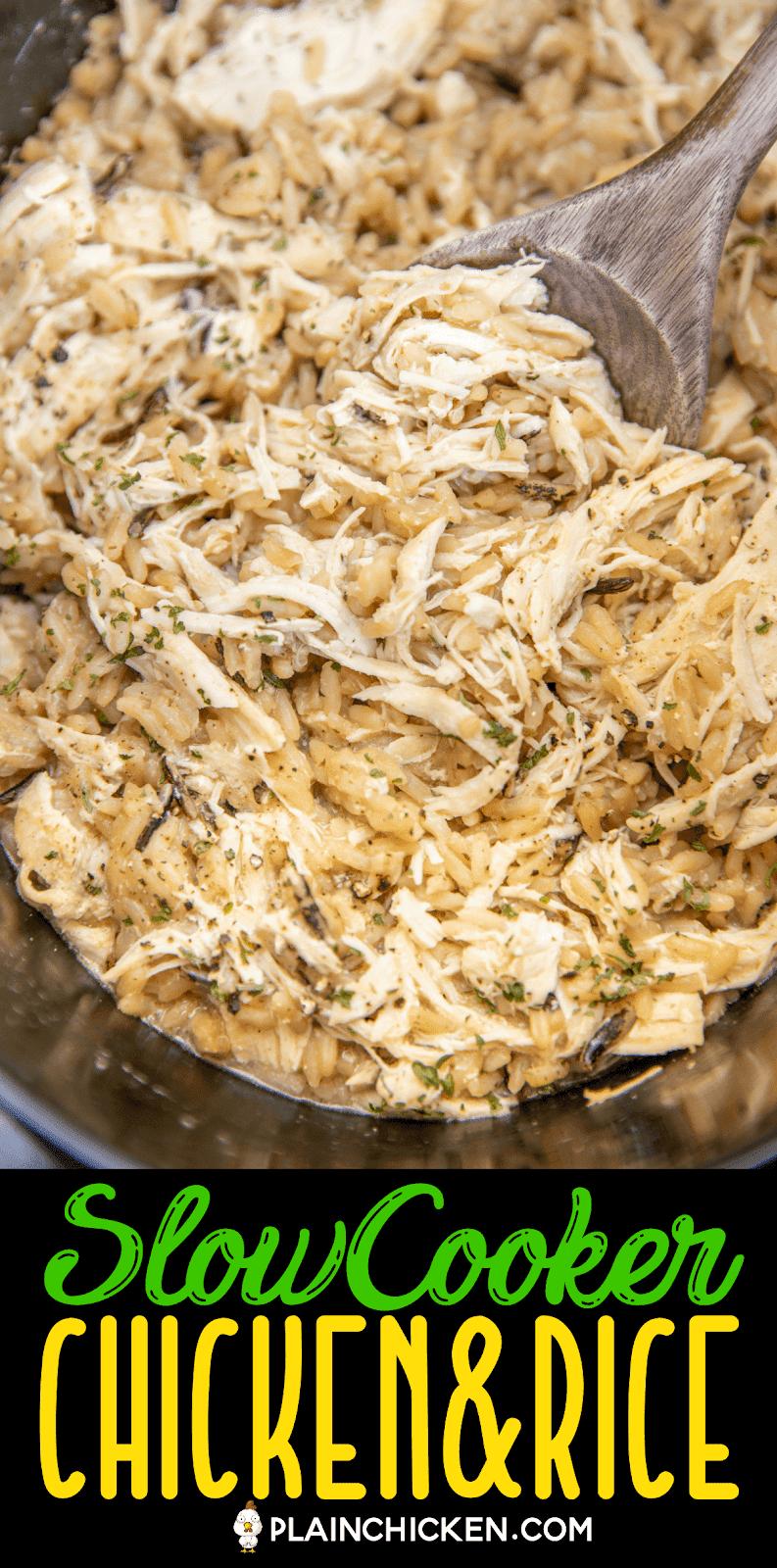 chicken & rice in crockpot