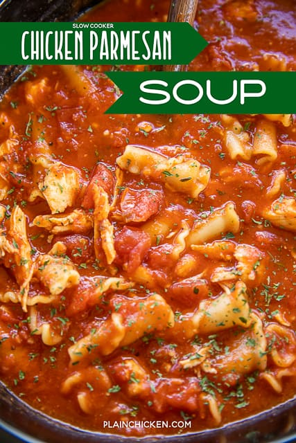 chicken parmesan soup in the slow cooker