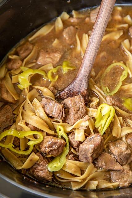 mississippi pot roast soup in slow cooker
