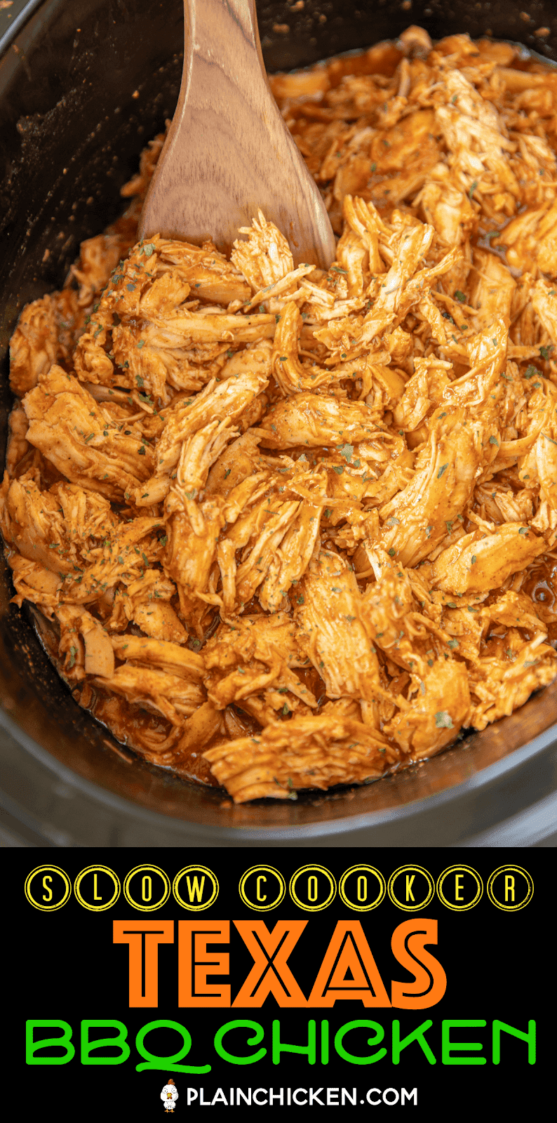 pulled bbq chicken in the slow cooker