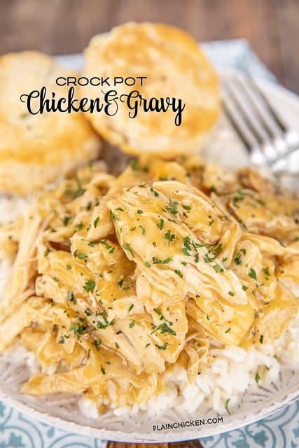 Crockpot Chicken Gravy Plain Chicken