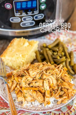 slow cooker orange bbq chicken