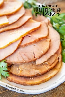 slow cooker orange honey mustard ham