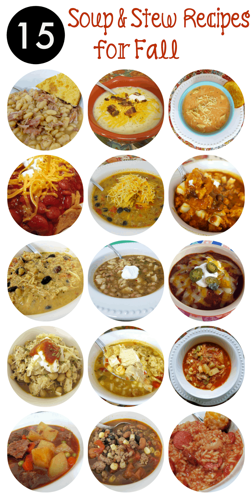 15 Soup and Stew recipes for Fall