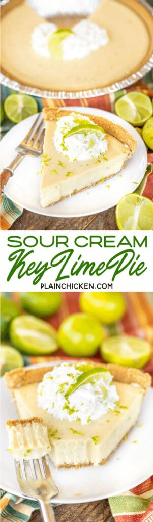 sour cream key lime pie