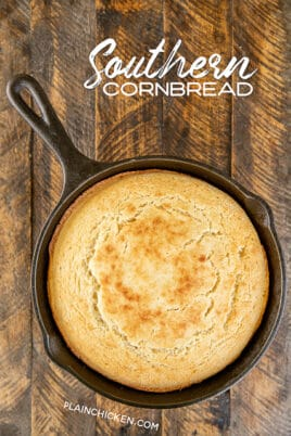 skillet of cornbread