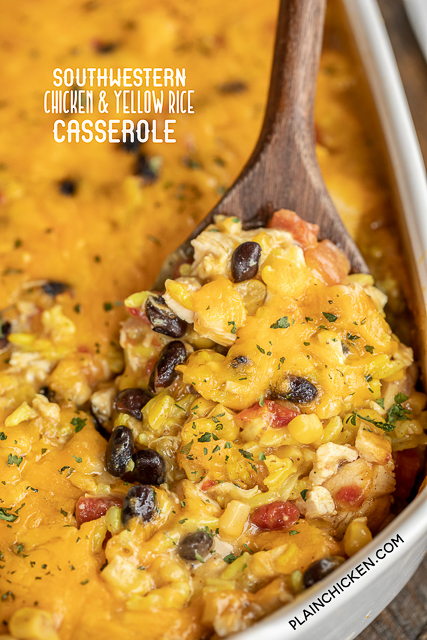 southwestern chicken & yellow rice casserole
