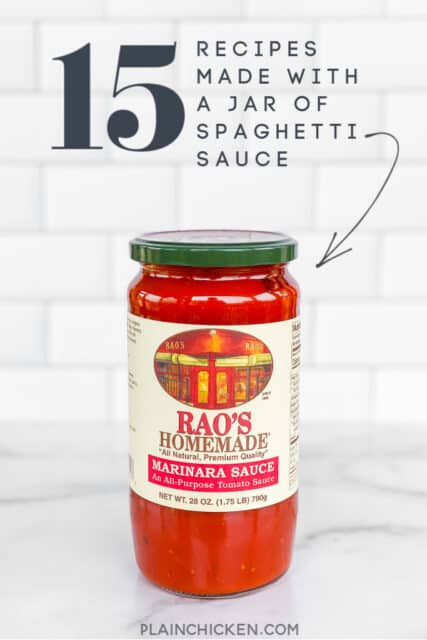 recipes made with a jar of spaghetti sauce