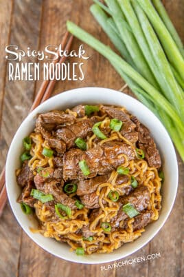 spicy steak ramen noodles