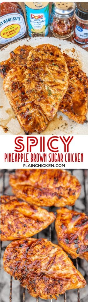 spicy pineapple brown sugar chicken