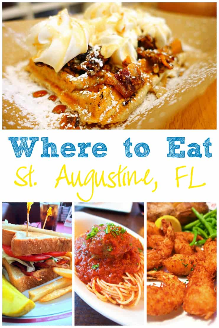 Where to Eat in St. Augustine, FL - Sunset Grille, Blondi's Oasis Diner, Barley Republic, Tini Martini Bar, Nonna's Trattoria, Centro Restaurant & Piano Bar, Cousteau's Waffle and Milkshake Bar