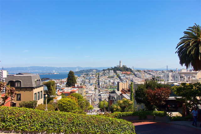 The view from the top of Lombard Street - San Francisco, CA