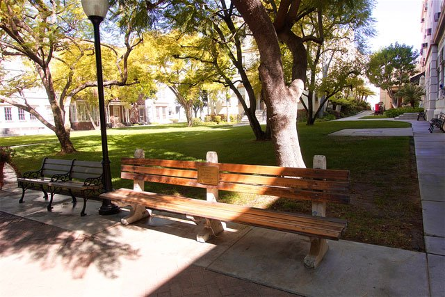 Forrest Gump bench on the Paramount Studio Tour - Hollywood, CA