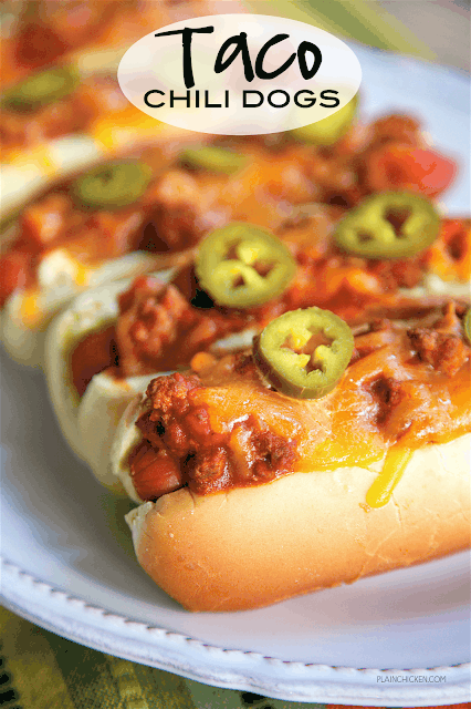 chili dogs on a plate